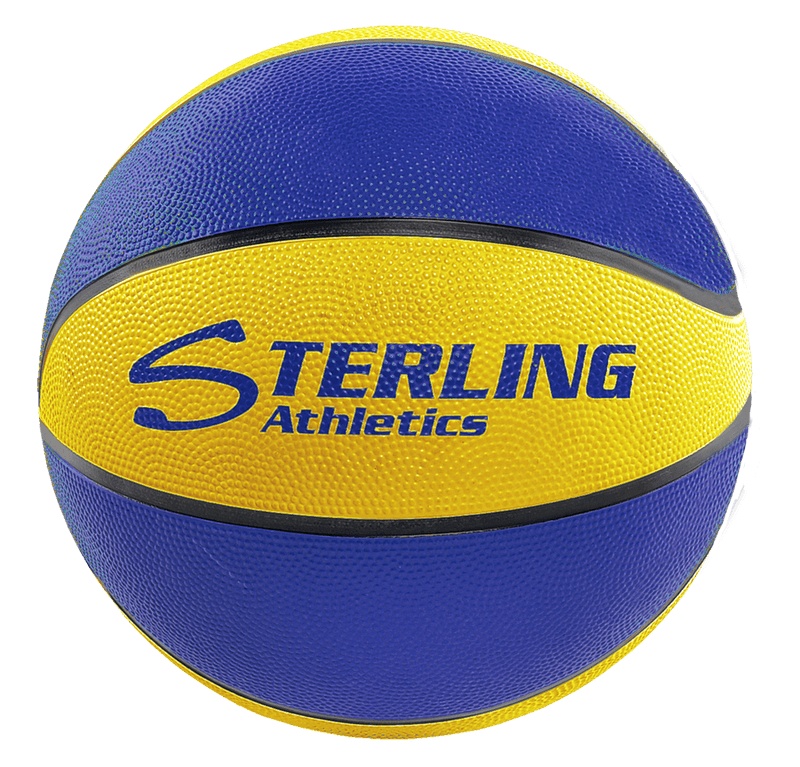 Sterling Athletics Royal/Gold Indoor/Outdoor Rubber Basketball