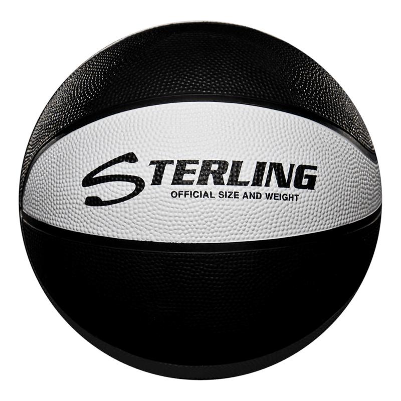 Sterling Athletics Black/White Indoor/Outdoor Rubber Basketball