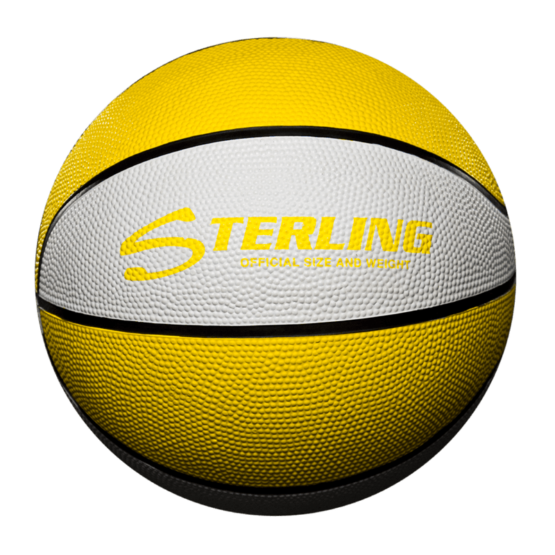 Sterling Athletics Gold/White Indoor/Outdoor Rubber Basketball