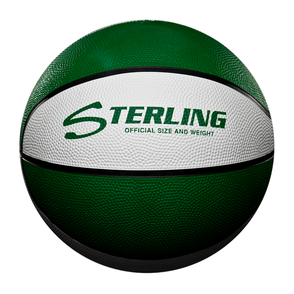 Sterling Athletics Green/White Indoor/Outdoor Rubber Basketball