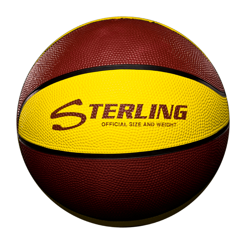Sterling Athletics Maroon/Gold Indoor/Outdoor Rubber Basketball