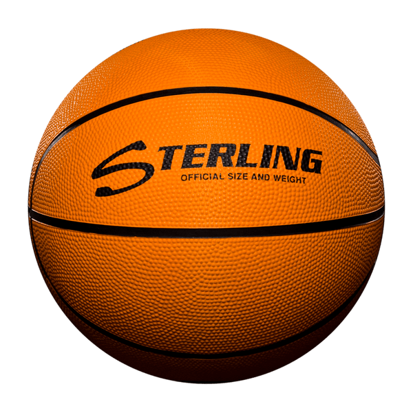 Sterling Athletics Orange Indoor/Outdoor Rubber Basketball