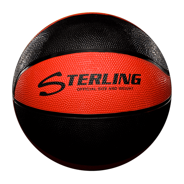 Sterling Athletics Black/Red Indoor/Outdoor Rubber Basketball