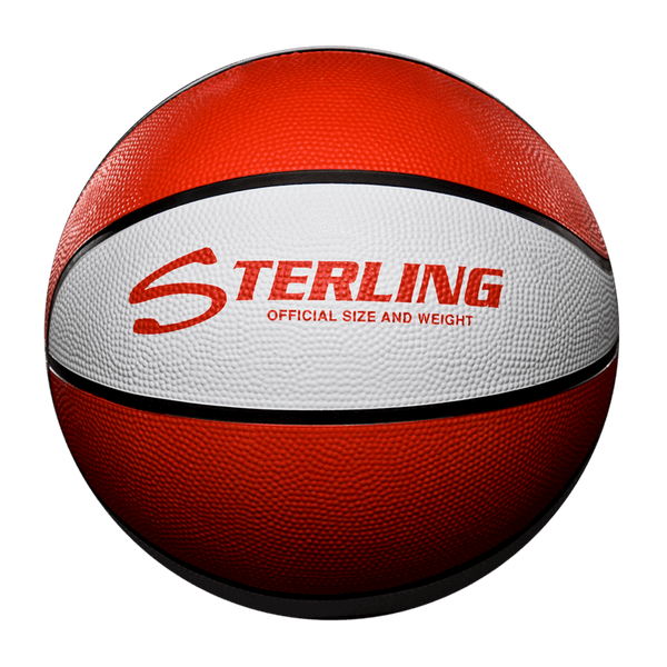 Sterling Athletics Red/White Indoor/Outdoor Rubber Basketball