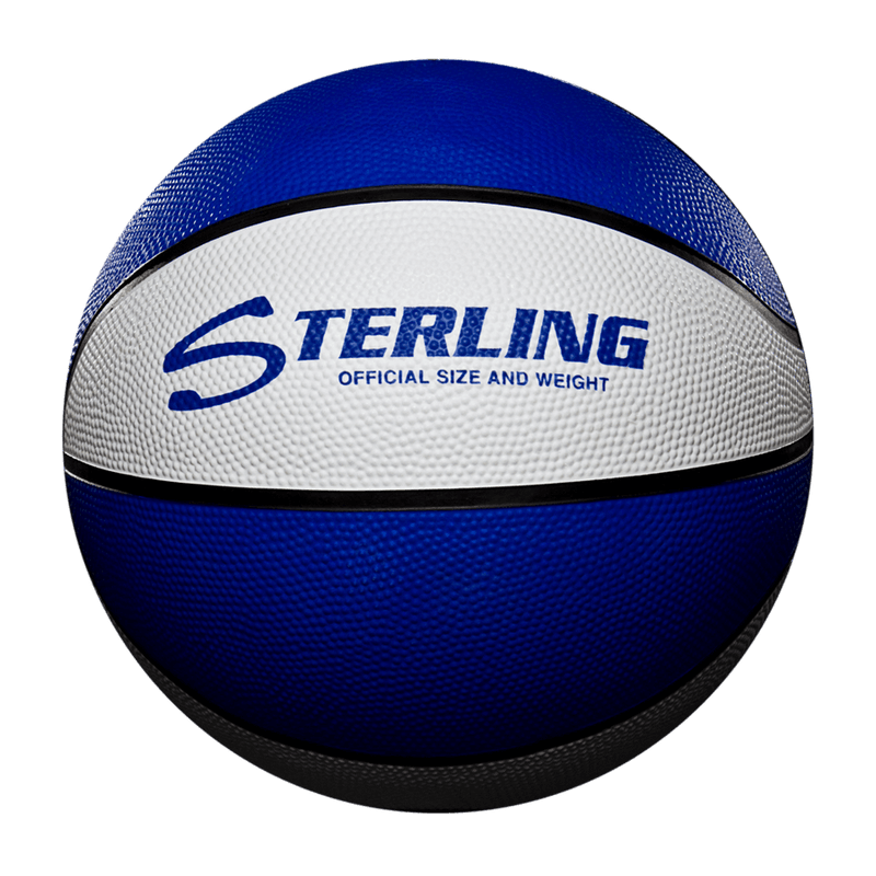 Sterling Athletics Royal/White Indoor/Outdoor Rubber Basketball
