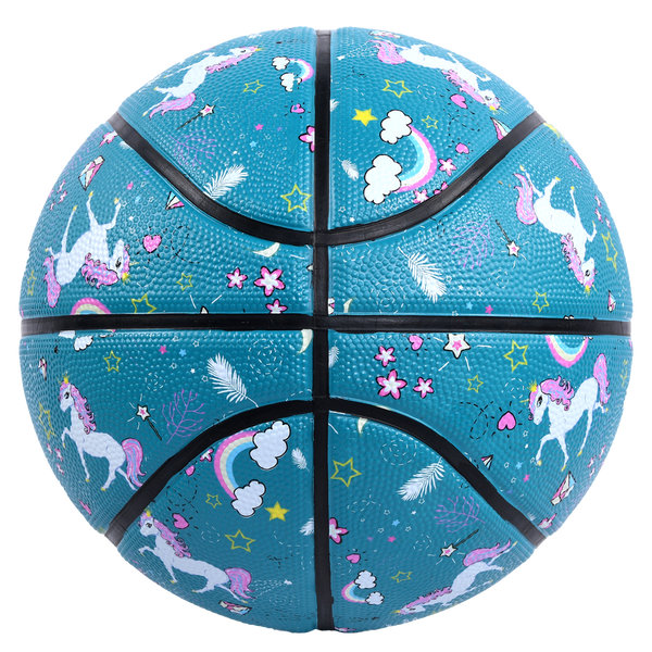 Sterling Athletics Unicorn Princess Teal Superior Grip Indoor/Outdoor Basketball