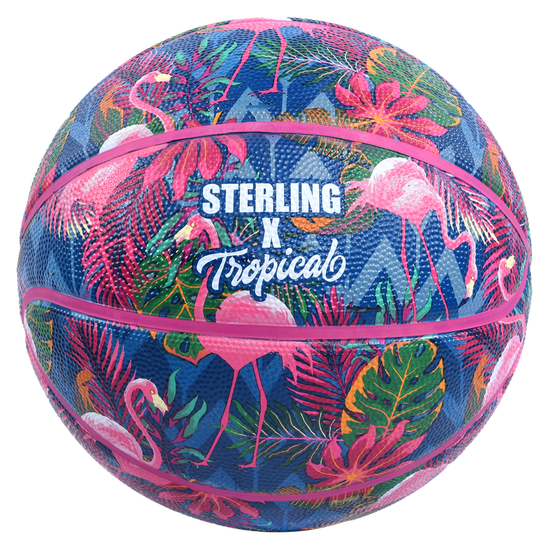 Sterling Tropical Flamingo Pink Superior Grip Indoor/Outdoor Basketball