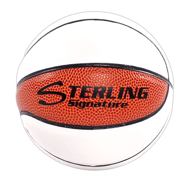Sterling Athletics White Matte & Synthetic Leather Mini Signature Basketball