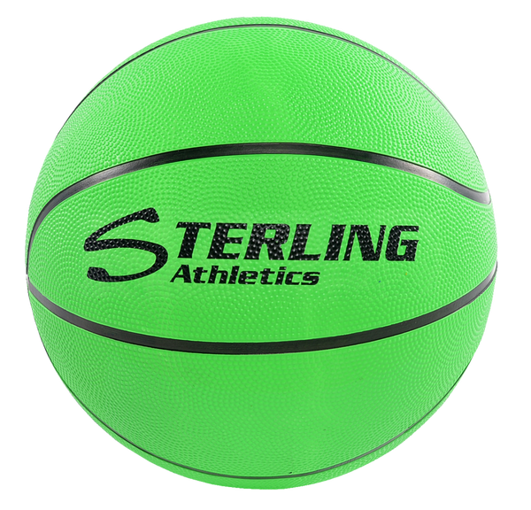 Sterling Athletics Neon Green Indoor/Outdoor Rubber Basketball