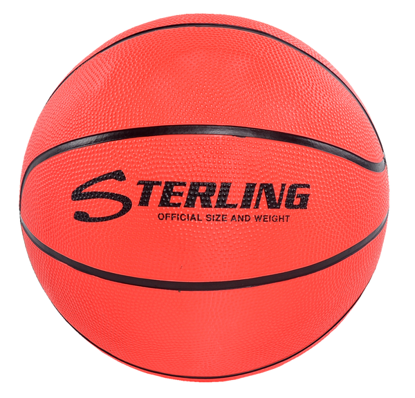 Sterling Athletics Neon Orange Indoor/Outdoor Rubber Basketball