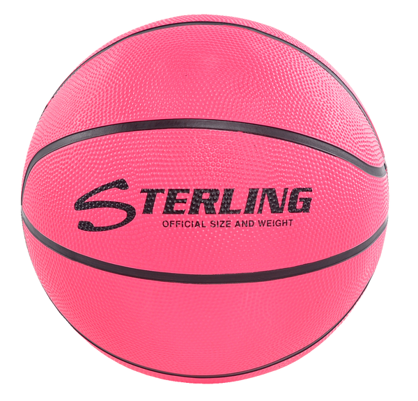 Sterling Athletics Neon Pink Indoor/Outdoor Rubber Basketball