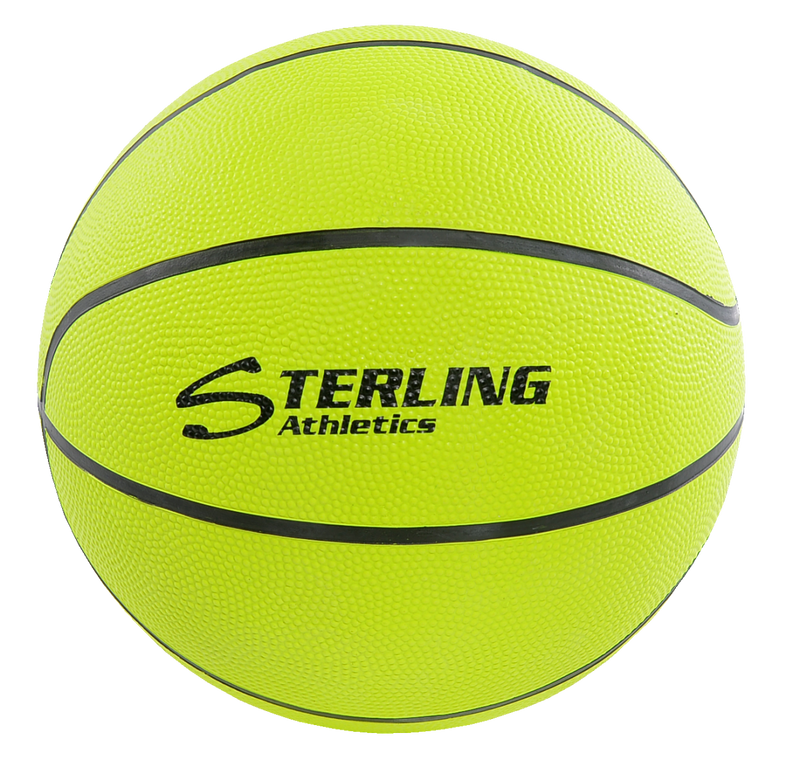 Sterling Athletics Neon Yellow Indoor/Outdoor Rubber Basketball