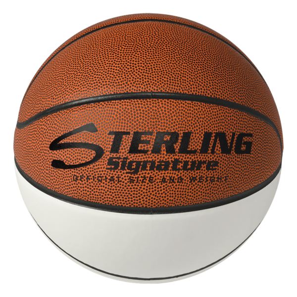 Sterling Athletics White Matte & Synthetic Leather Signature Basketball