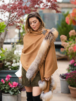 Cashmere Shawl with Fox