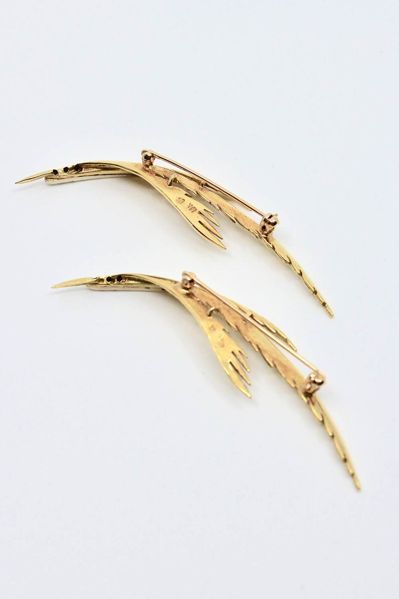 Pair of Bird Brooches, c1950s
