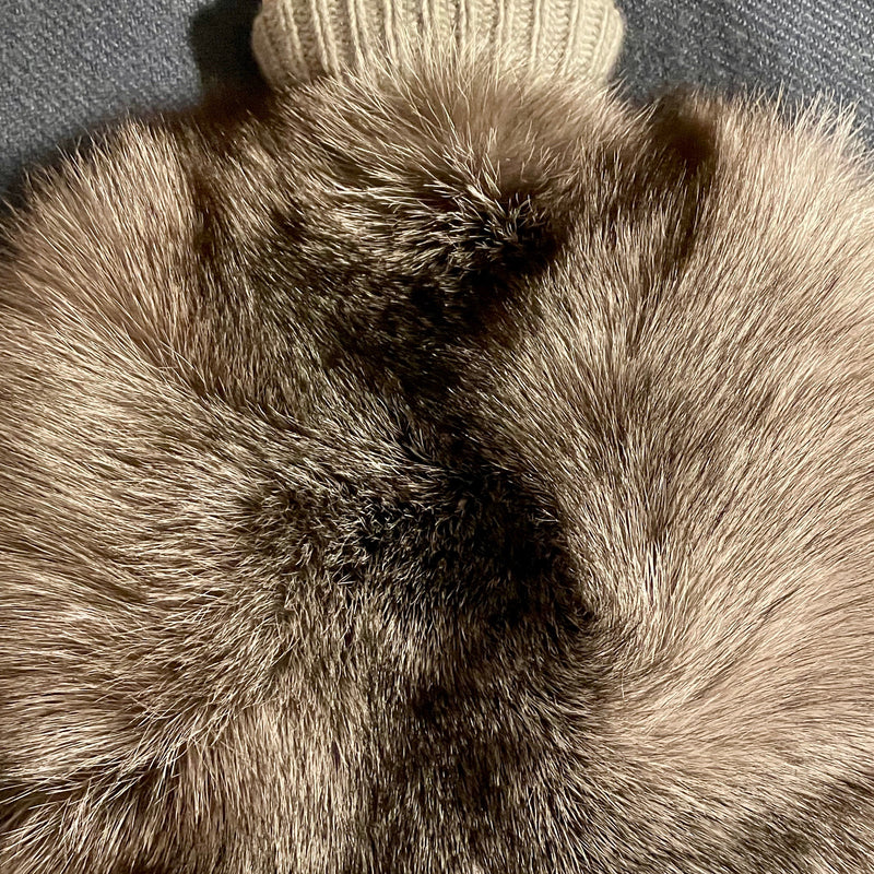Cashmere and Fox Hot Water Bottle