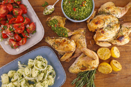 Garlicky Spatchcock Chicken with Parsley Chimichurri