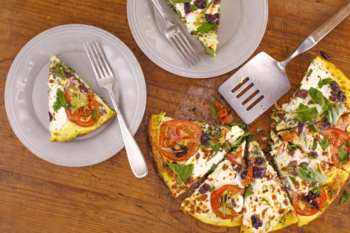 Greek Frittata Pizza