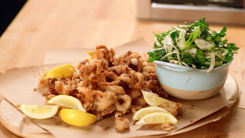 Easy Fried Calamari with Fennel-Celery Salad