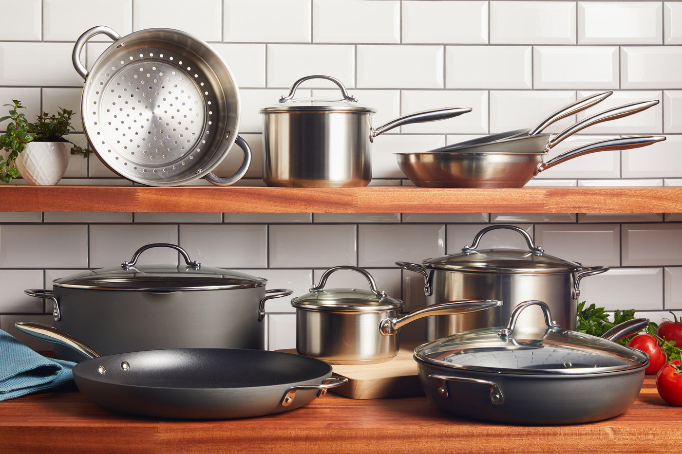 stainless-steel & hard-anodized nonstick