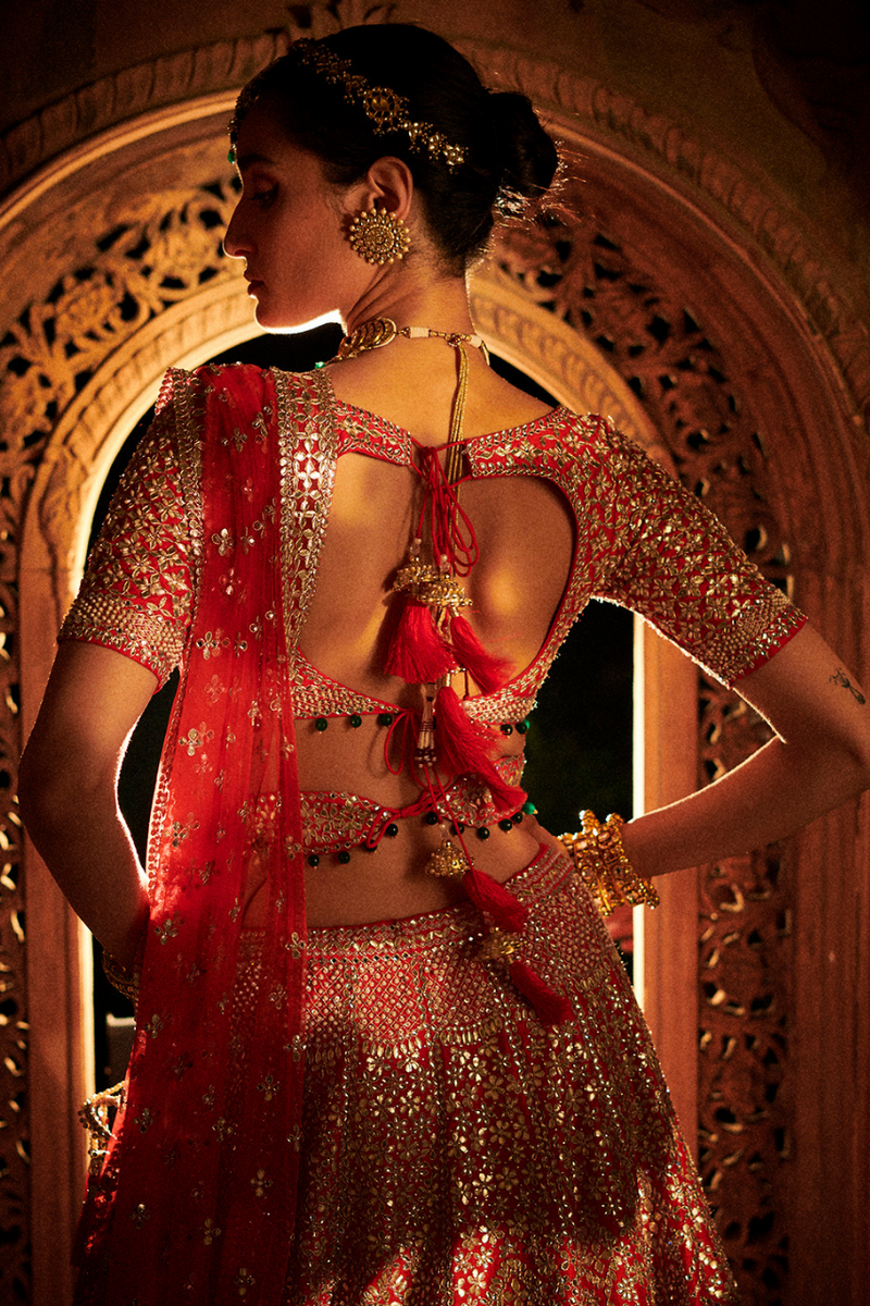 Bridal Red Gota Patti Lehenga Set
