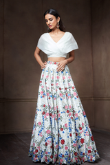 Multi-Colored Floral Lehenga Set