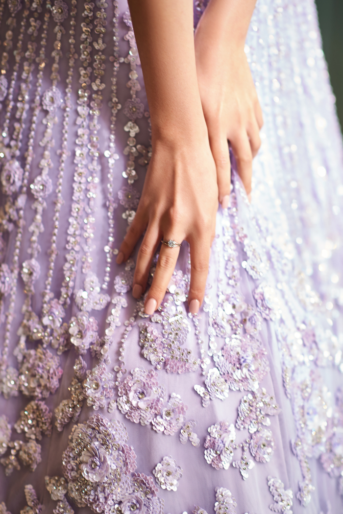 Mauve Sequins Gown