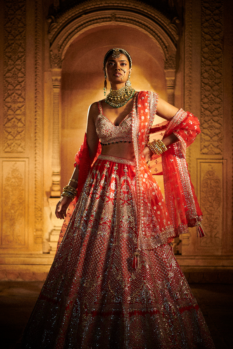 Bridal Red Lehenga Set