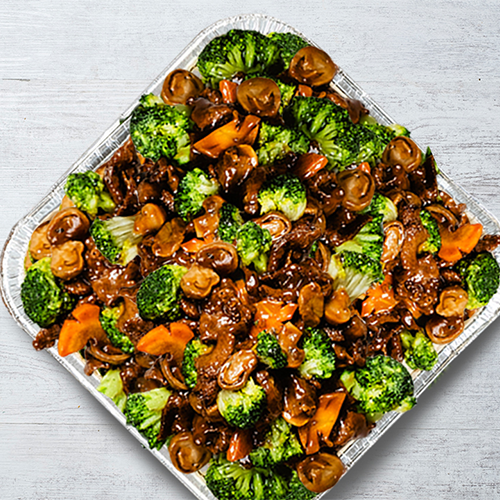 Grilled US Beef with Broccoli in Oyster Sauce Platter