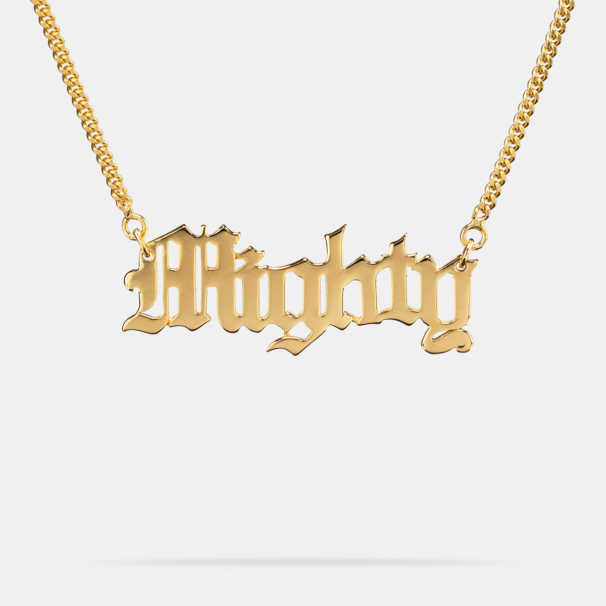 Old English Necklace in Gold