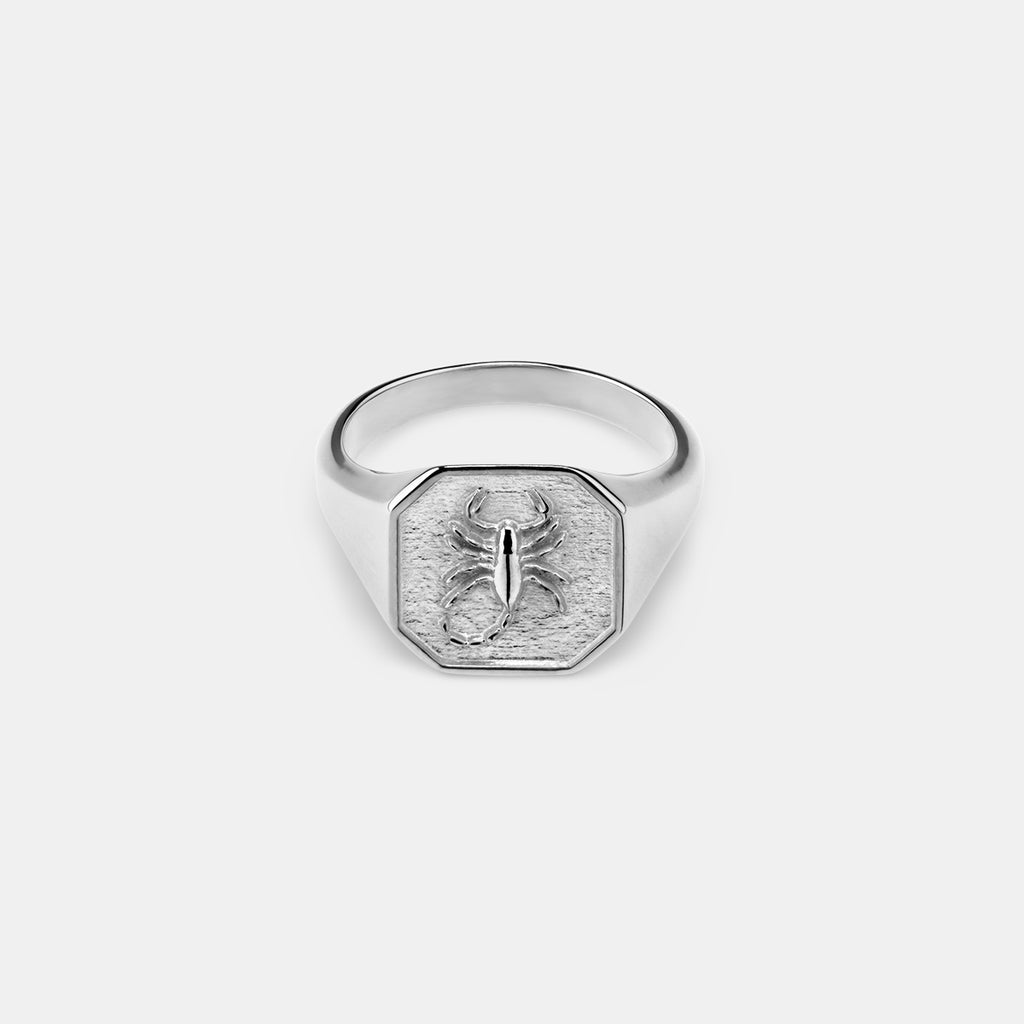 Mens Silver Scorpion Ring