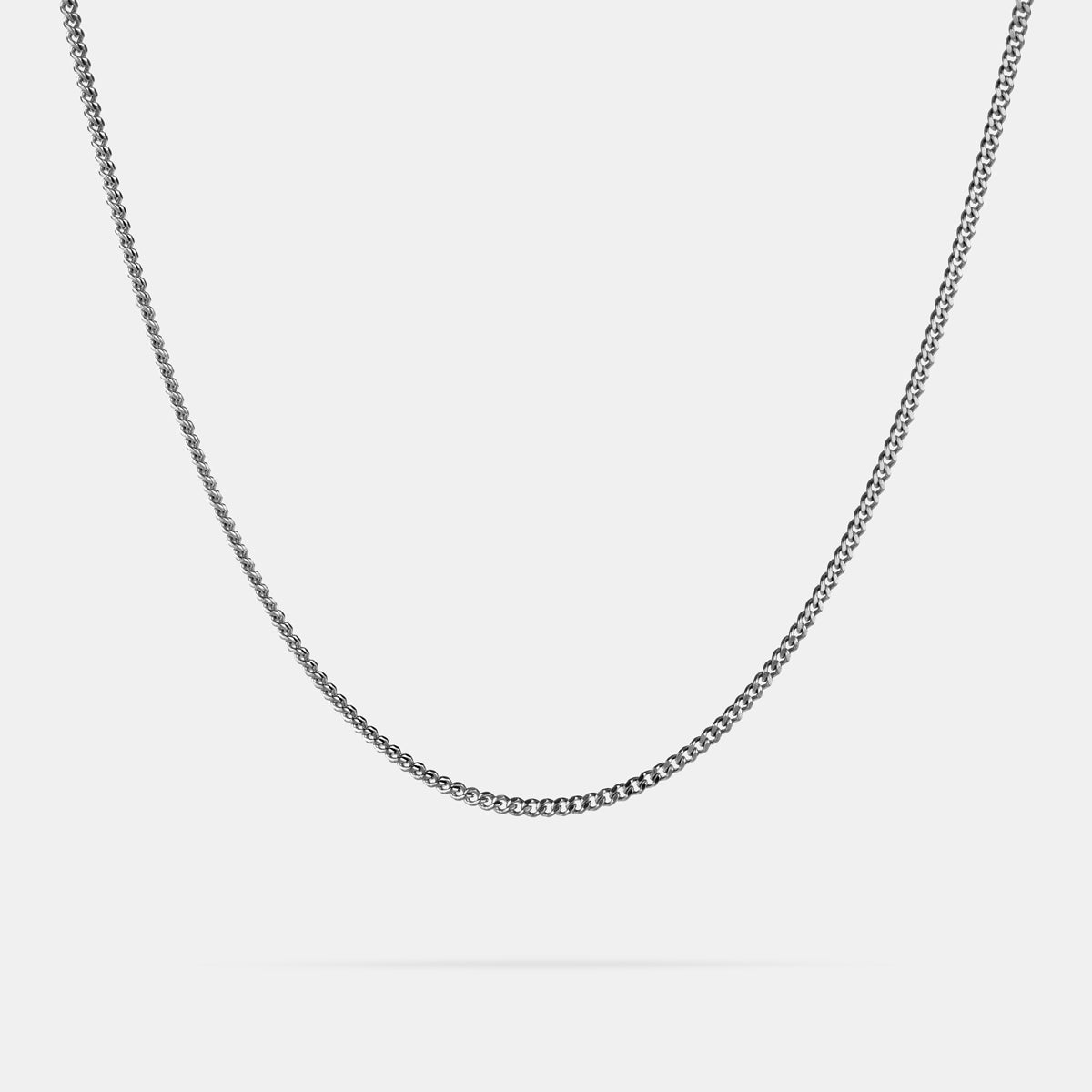 Curb Diamond Cut Chain - Silver