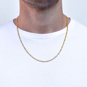 Figaro Gold Chain Necklace for Men