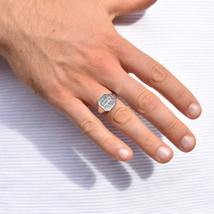 God's Plan Signet Ring for Men in Silver