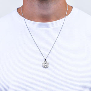 Jesus Piece Necklace in Silver