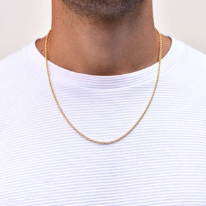 Cable Chain Necklace for Men in Gold