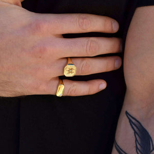 Gold Scorpion Signet Ring