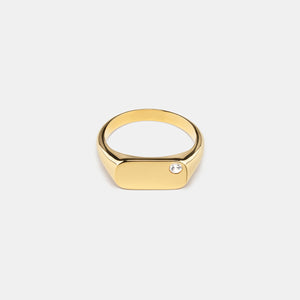 Lodestar Signet Ring in Gold