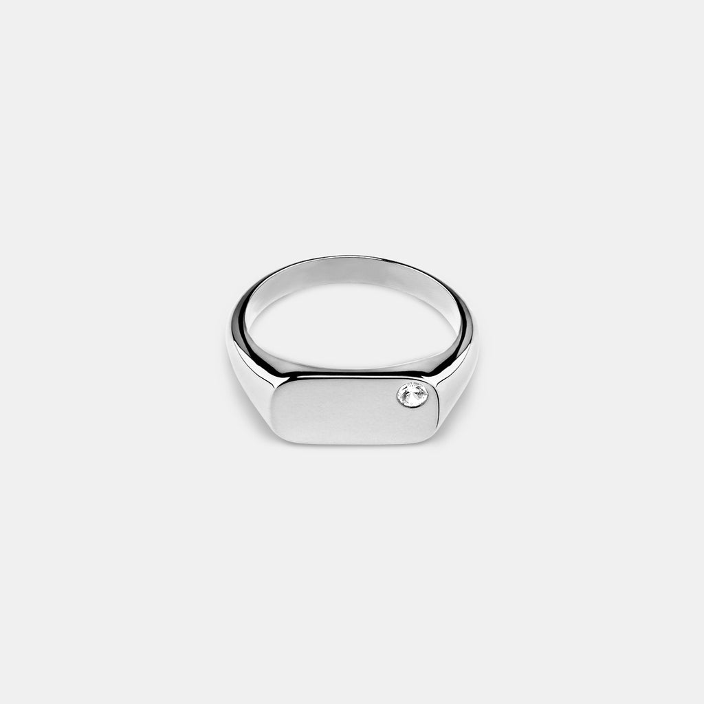 Lodestar Signet Ring in Silver