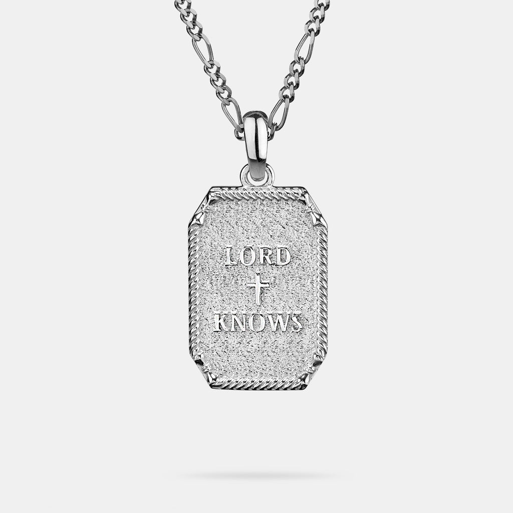 Lord Knows Pendant in Silver