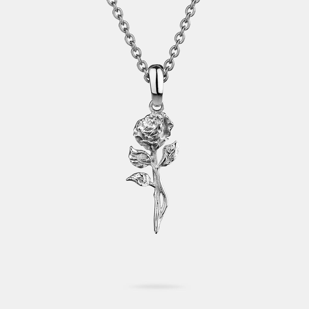 Rose Pendant in Silver
