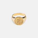 Load image into Gallery viewer, Rose Signet Ring in Gold