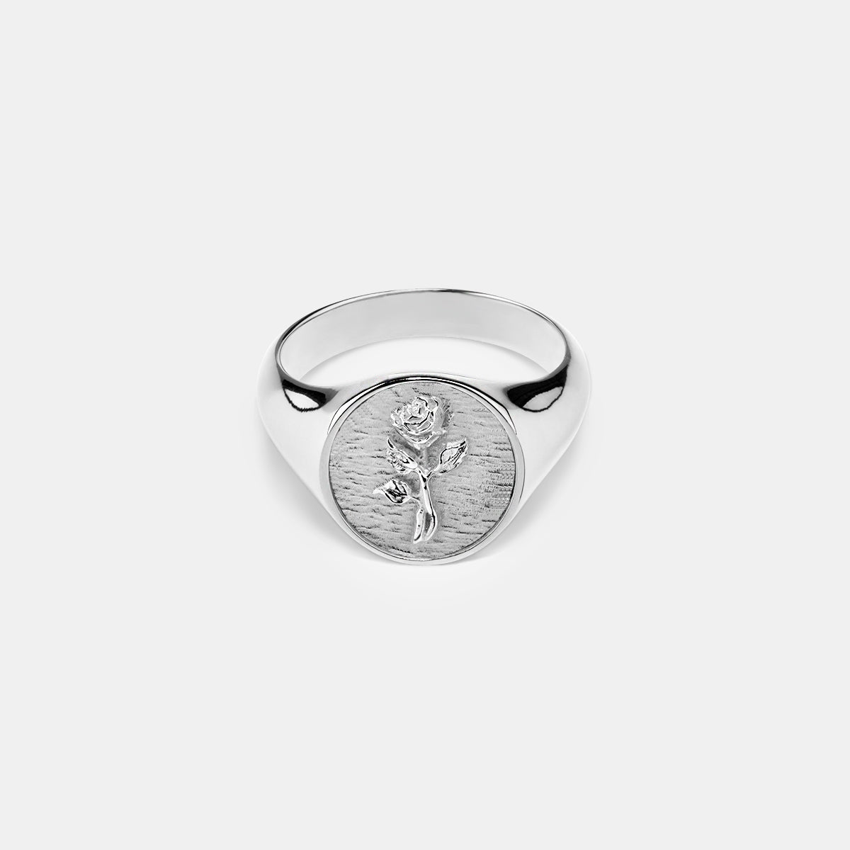 Singet Rose Ring in Silver