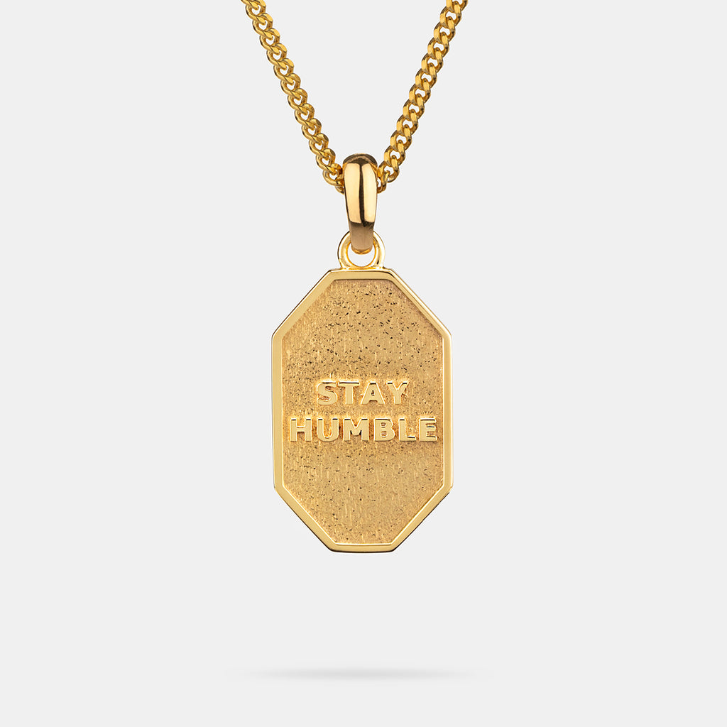 Stay Humble Pendant in Gold
