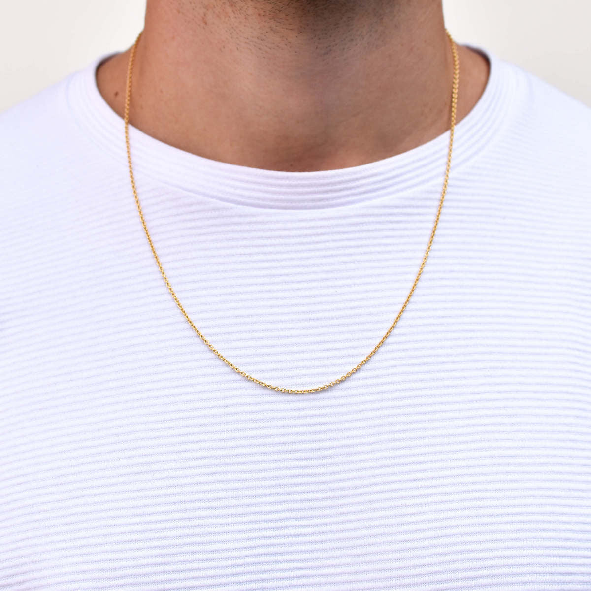 Cable Chain Necklace in Gold for Men