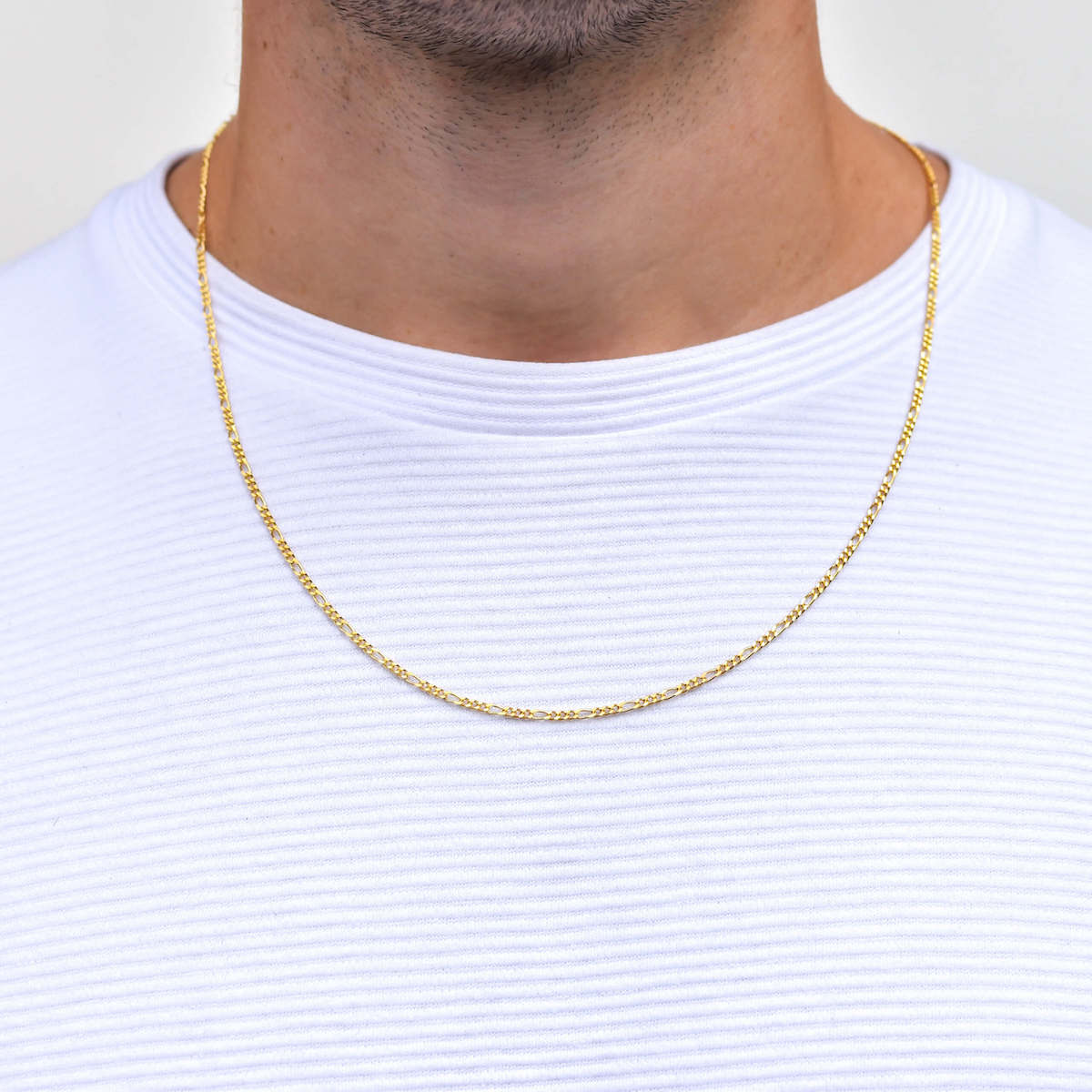 Figaro Gold Necklace for Men