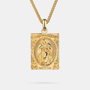 Virgin Mary Pendant in Gold