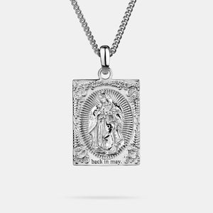 Virgin Mary Silver Pendant