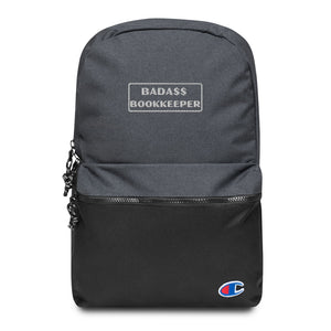 Open image in slideshow, Embroidered 'Bada$$ Bookkeeper' Backpack