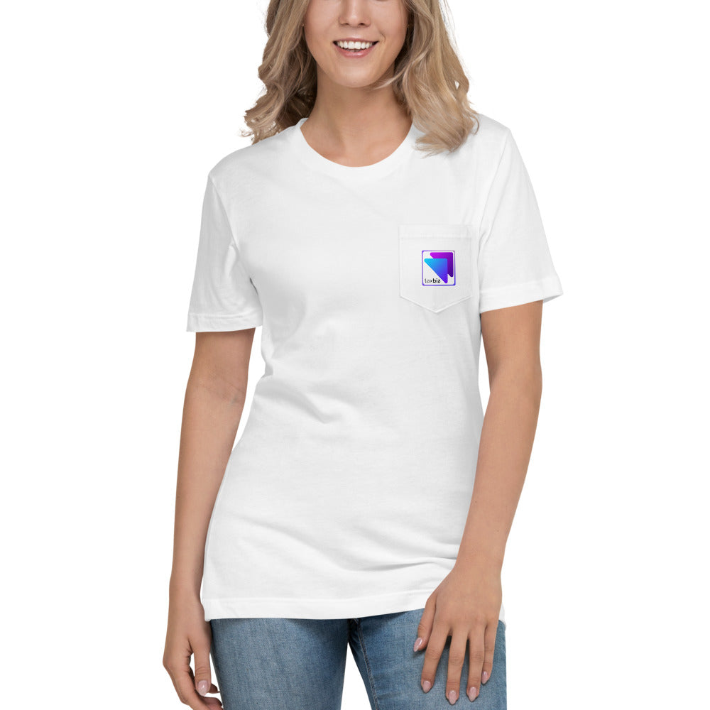 TaxBiz Logo Unisex Pocket T-Shirt